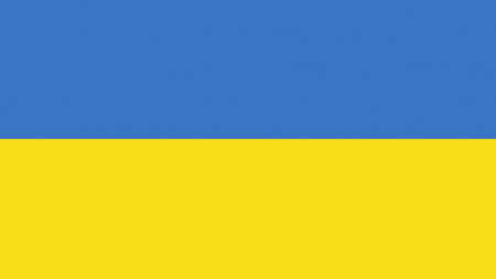 Flag of Ukraine, blue rectangle on top of yellow rectangle